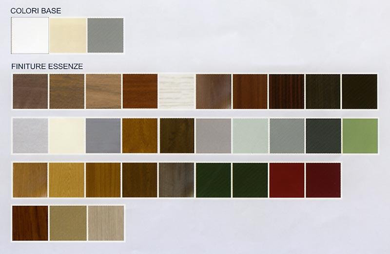Tabella colori RAL persiane