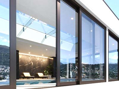 Serramenti in alluminio bianco apertura scorrevole installata a Biella