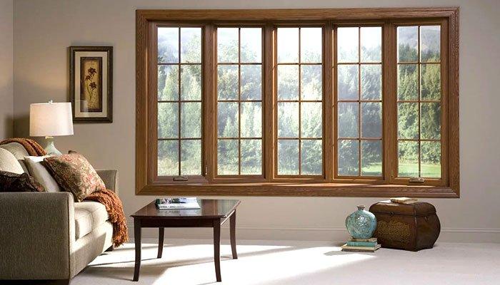 finestre in stile inglese legno scuro
