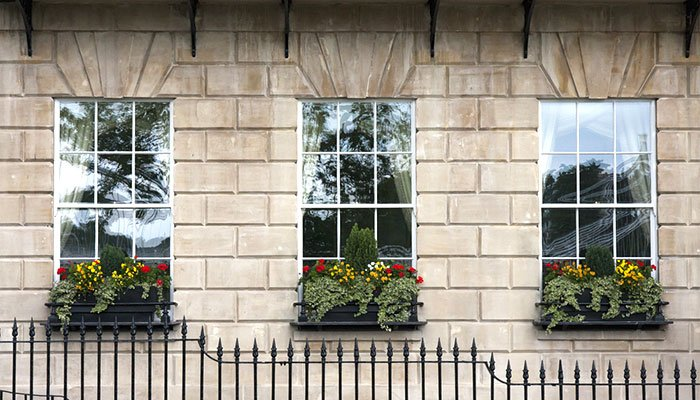finestre in stile inglese