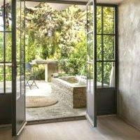 porte finestra realizzate in alluminio in stile inglese