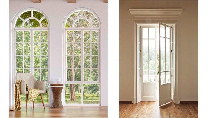 bellissime porte finestre in stile inglese