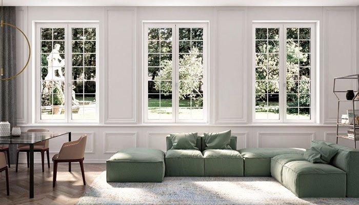 finestre in stile inglese classiche