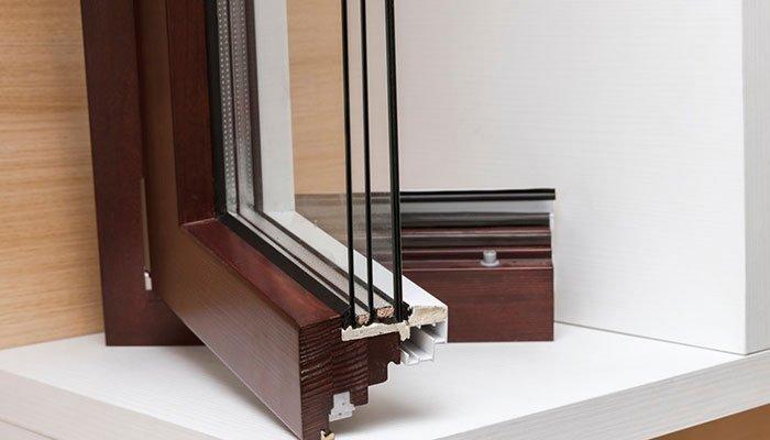 finestra in alluminio legno