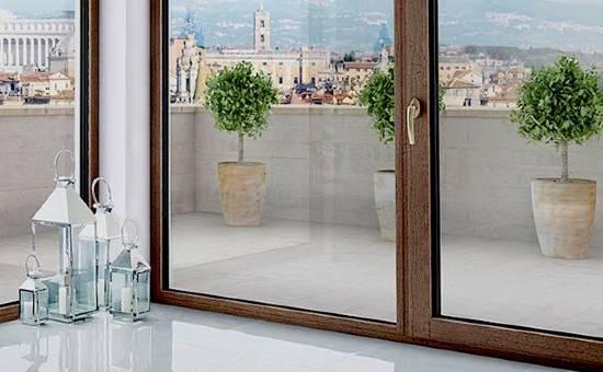 Serramento in legno e alluminio con profili sottili | installazione a Langhirano