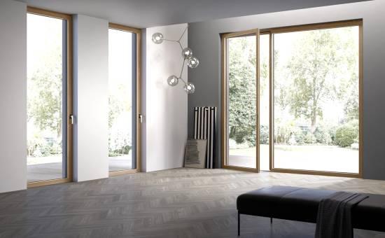 Serramenti in legno alluminio profilo minimal | Lavoro a Quattro Castella