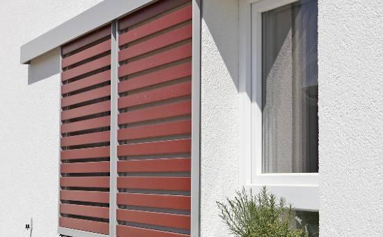 Persiane scorrevoli in PVC color legno