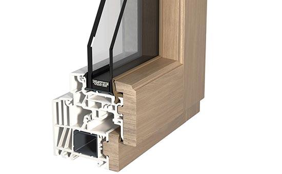 Foto profili serramenti in legno / alluminio