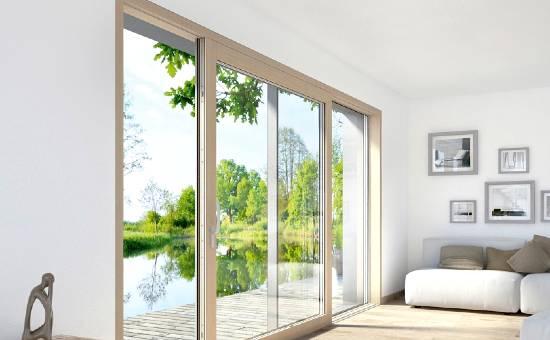 Finestre in legno e alluminio di design apertura scorrevole