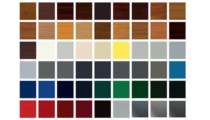 Palette colori possibili per persiane