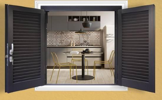 Persiane in ferro zincato antiscasso per appartamento a Carpaneto Piacentino